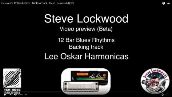 Harmonica 12 Bar rhythms - Backing Track - Steve Lockwood (Beta)